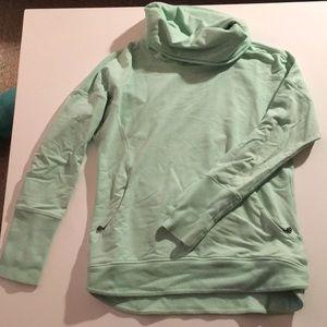 Lululemon Mint Green Cowl Neck Sweatshirt